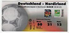 Ticket Germany - Northern Ireland 08.09.1999