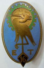 Insigne 1939 WWII 16° ESCADRON DU TRAIN Drago Béranger ORIGINAL