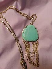 Kendra Scott Ashlyn green long statement necklace