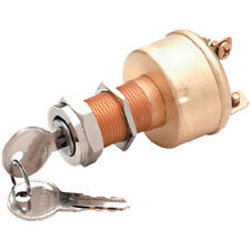 3 Position Heavy Duty 3 Terminal Brass Construction Ignition Switch for Boats