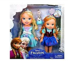 Disney Frozen Deluxe Toddler Elsa and Anna Doll Set with Olaf NIB Sold Out!!!