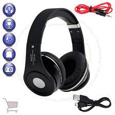 Foldable Bluetooth Black Headset Wireless Stereo Headphone Built-in Mic TF UKES