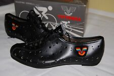 VITTORIA NOS CYCLING SHOES 44 EROICA VINTAGE 80S NEW LEATHER MADE IN ITALY NEW