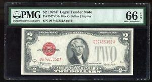 1928F $2 Legal Tender Note Fr#1507 PMG 66 EPQ Gem Uncirculated
