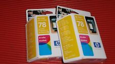 2 HP INK JET CARTRIDGES  78 TRI COLOR  EXPIRED SEALED