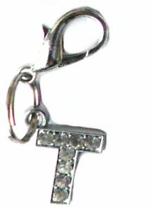 A-Z Letter Crystal Dog Collar Charms Cat Pet Bling Alphabet Clip on Initial New