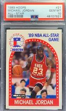 1989 NBA HOOPS  MICHAEL JORDAN  ALL-STAR GAME #21 HOF RARE CARD PSA GEM MINT 10!
