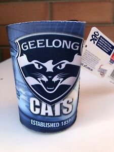NEW Official AFL Geelong Cats Stubby Holder Can Cooler Drink or Bottle Holder