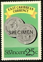 St. Vincent #1075b MNH Specimen CV$0.50 East Caribbean Currency Coins Perf 13...