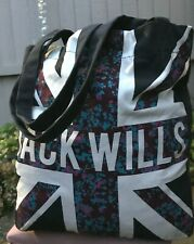Jack Wills Canvas tote handbag carry/shoulder lightweight & roomy bag fits in a4