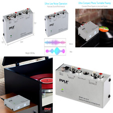 Pyle Phono Turntable Preamp - Mini Electronic Audio Stereo Phonograph Preampl...