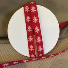 PRETTY 12mm Red & White Vertical Christmas Tree Decoration Ribbon 1m 3m 5m 10m