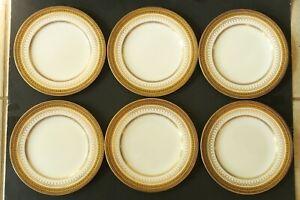 Antique Davis Collamore &Co Copeland R2396  Plates-9 In. Set of 6