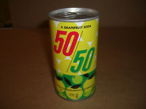 50/50 Grapefruit Soda Can 1970's By Cotton Club