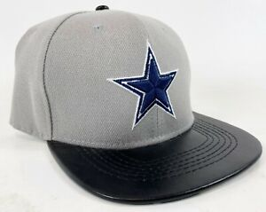 RARE NEW Mitchell & Ness Vintage Style Wool Leather Bill Snapback Cowboys Hat