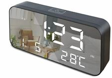 "Gloue Led Digital Alarm Clock, 9.6"" Large Display Alarm Clocks for Bedrooms with"