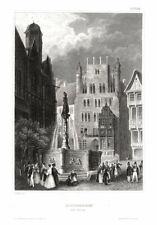HILDESHEIM - Der Markt. Originaler Stahlstich um 1840
