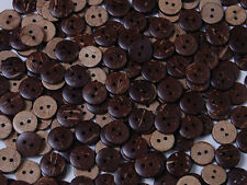 B001 Natural Coconut Round Buttons Craft Sewing DIY Art 11.5mm 100pcs