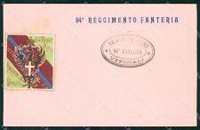 Militari Reggimentali 84º Reggimento Fanteria Brigata Venezia cartolina XF5560