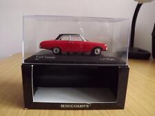 Wa53: Minichamps 430 085109 Ford Taunus 1960 - Red / Black 1/43  MIB