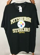 Pittsburgh Steelers Black T-Shirt  NFL Team Apparel Mens Size XL 100% Cotton Nwt