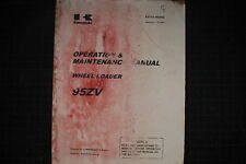 KAWASAKI Wheel Loader 95ZV Operation Operator Maintenance Manual shop guide 2004