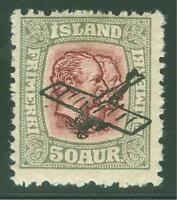 ICELAND SCOTT# C2 MINT HINGED AS SHOWN