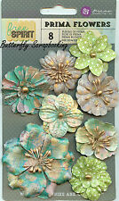 Prima Flowers 8 Flowers Free Spirit Collection Scrapbooking Prima 574208 NEW