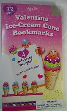 Ice Creme Cone Book marks 32 Valentine Day Cards  Box  damage