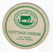 Rare Adirondack Cottage Cheese lid from Rockwell Kent's Asgaard Dairy