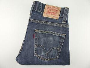"""LEVIS 506 Mens Jeans Blue Denim Straight Leg SIZE W30 L30 Waist 30"""" Leg 30"""" LEVI"""