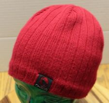 VERY NICE CHAOS RED WINTER BEANIE HAT ACRYLIC MADE IN CANADA VERY GOOD CONDITION