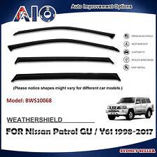 AD WEATHERSHIELD WINDOW VISOR SHIELD SHIELDS FOR NISSAN Patrol GU/Y61 1998-2017
