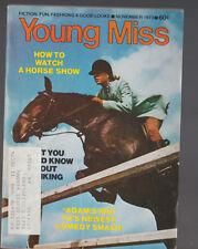 Young Miss YM Magazine November 1973 Adams Rib Horse Show