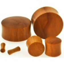 Plugs 05mm/4 Gauge Body Jewelry Pair-Wood Chang Red Saddle Flare Ear
