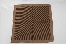 TOM FORD Pocket Square Brown & Mocha Striped 100% Silk TF818