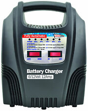 Streetwize 12 Amp Automatic Trickle Car Motorbike Motorhome 12V Battery Charger