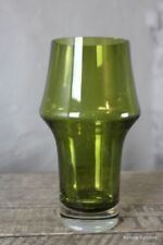 Green Glass Retro Vase