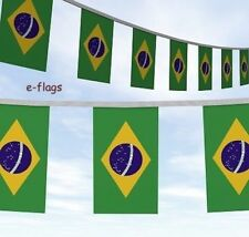 10 METRES BRAZIL FLAGS BUNTING RUSSIA WORLD CUP 2018 Bandeira do Brasil