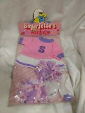 Rare Smurfette's Wardrobe Or Plush Doll Pink Cheerleader Set 1983      NEW t1313