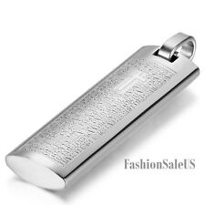 """Stainless Steel Bible Cross Pendant Men's Fashion Retro Charm Necklace 22"""" Chain"""
