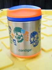 Contigo Food Jar Thermos Lunch Flask SKULLS! Insulated SS 295mL 10oz NWOT Cd!