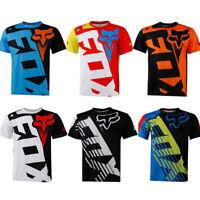 Men FOX Racing Jersey Short Sleeve T-shirts Motocross/MX/ATV/BMX/MTB Dirt Bike