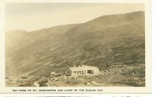 LAKES OF THE CLOUDS, NEW HAMPSHIRE-HUT-CONE OF MT. WASHINGTON-RPPC(RP#1-1267)