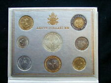 2000 Vatican (Italy) rare set coins with silver UNC Holy Year 2000 official BOX