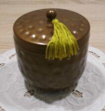 Partylite Kerzenhalter Aufbewahrungsdose Halter zum Nachfüllen Antikbronze Ø10cm