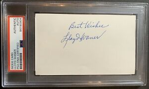 Lloyd Waner (Died 1982) HOF 67 PSA/DNA Signed Auto Index Card Pittsburgh Pirates
