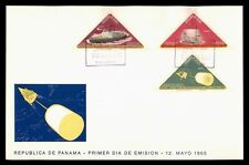 DR WHO 1965 PANAMA FDC SPACE CACHET TRIANGLE COMBO IMPERF  f94484