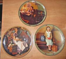 Lot of Norman Rockwell Rockwell's China Wall 3 Plates