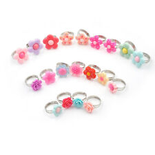 5Pcs Cute Children Flower Rings Adjustable Jwewlry Kids Fashion Accessories